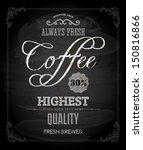 chalkboard poster lettering... | Shutterstock .eps vector #150816866