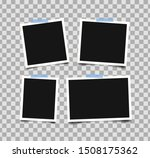set of empty photo frames with... | Shutterstock .eps vector #1508175362