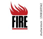 fire isolated flat icon. vector ... | Shutterstock .eps vector #1508185562