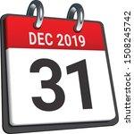 calendar of last day on month... | Shutterstock .eps vector #1508245742