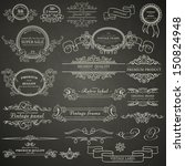 set of vintage design elements... | Shutterstock .eps vector #150824948