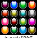 16 different icon or button set | Shutterstock .eps vector #15082687