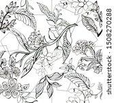 black and white outline... | Shutterstock . vector #1508270288
