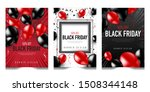 black friday set of posters or... | Shutterstock .eps vector #1508344148