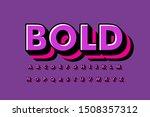 modern 3d bold font and alphabet | Shutterstock .eps vector #1508357312