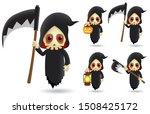 grim reaper halloween character ... | Shutterstock .eps vector #1508425172