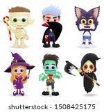 character halloween vector set. ... | Shutterstock .eps vector #1508425175