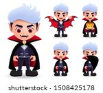 vampire halloween characters... | Shutterstock .eps vector #1508425178