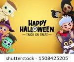 happy halloween vector banner... | Shutterstock .eps vector #1508425205