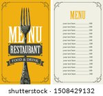 vector template menu for... | Shutterstock .eps vector #1508429132