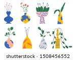 set of different vases with...   Shutterstock .eps vector #1508456552