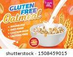 gluten  lactose free oatmeal... | Shutterstock .eps vector #1508459015