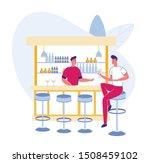 nightlife in bar or pub scene   ...   Shutterstock .eps vector #1508459102