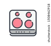 electric stove color line icon. ...
