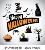 halloween icon symbol design... | Shutterstock .eps vector #150849008