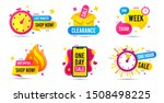 sale timer badges. last minute... | Shutterstock .eps vector #1508498225