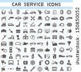 car service icons set  car...