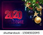 holidays greeting card for...   Shutterstock .eps vector #1508502095