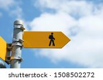 Yellow Sign For Swiss Hiking...