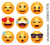 set of emoticon cartoon emojis... | Shutterstock .eps vector #1508517578