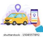 carsharing concept. car rental...   Shutterstock . vector #1508557892
