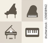 vector piano icons | Shutterstock .eps vector #150858962