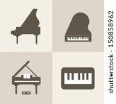 vector piano icons   Shutterstock .eps vector #150858962