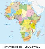 africa political map | Shutterstock .eps vector #150859412