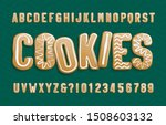 christmas gingerbread cookies...   Shutterstock .eps vector #1508603132