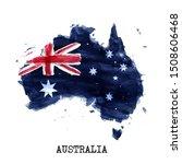 australia flag watercolor... | Shutterstock .eps vector #1508606468