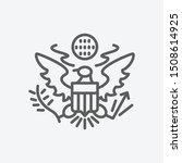 usa great seal icon line symbol....