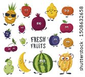 cartoon fruits cute characters... | Shutterstock .eps vector #1508632658