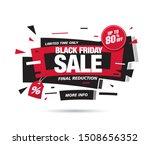 black friday sale banner layout ...   Shutterstock .eps vector #1508656352