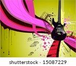 electric guitar design for... | Shutterstock .eps vector #15087229