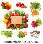 Set Of Variety Fresh Herbs And...