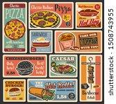 fast food takeaway snacks  hot... | Shutterstock .eps vector #1508743955