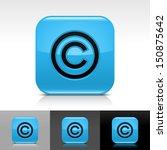 copyright icon blue color...
