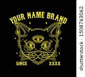 black cat death t shirt design  ... | Shutterstock .eps vector #1508763062