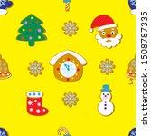 seamless christmas pattern of... | Shutterstock .eps vector #1508787335