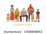 happy family with different... | Shutterstock .eps vector #1508808842