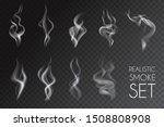 realistic smoke transparent... | Shutterstock .eps vector #1508808908