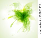 green floral abstract... | Shutterstock .eps vector #150881192