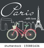 paris with love | Shutterstock .eps vector #150881636