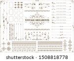 vintage ornament set. floral... | Shutterstock .eps vector #1508818778