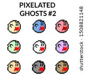 illustration of nine pixelated...
