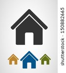 home icons | Shutterstock .eps vector #150882665