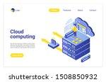 cloud computing isometric...