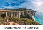 Bixby Bridge On Pacific Coast...