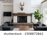 Brightly Lit Living Room Of A...