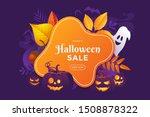 halloween sale banner design....   Shutterstock .eps vector #1508878322